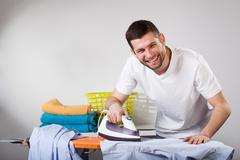 Happy househusband Stock Photos