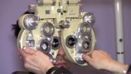 Stock Video Footage of Eye Examining machine