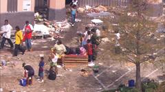 Hurricane Katrina Damage Flood Stock Footage