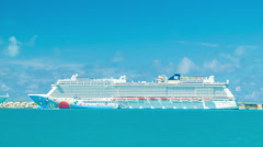 Norwegian Breakaway Docked at King's Wharf in Bermuda Stock Footage