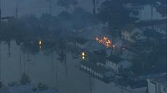 New Orleans Hurricane Katrina Fire Stock Footage