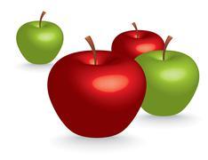 3d apples - stock illustration