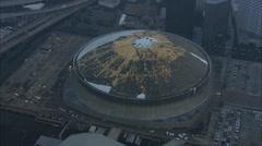 Hurricane Katrina Superdome Flood Stock Footage