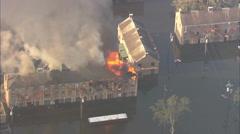 Hurricane Katrina Flood Fire Stock Footage