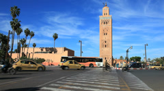 Koutoubia mosque in marrakesh, morocco Stock Footage