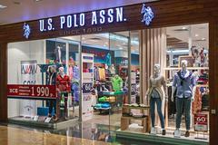 Us polo assn store clothes in the mall metropolis Stock Photos