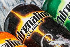 Energy drinks adrenaline rush Stock Photos