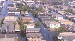 Rooftop People Flood Houses Stock Footage