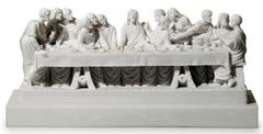 Statue of jesus and the holy supper Stock Photos