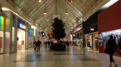 Walking people in the shopping mall Stock Footage