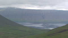 Fjord from the adjacent glacial valley Stock Footage