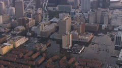 Flood City House Helicopters Stock Footage