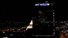 Pittsburgh Aerials BNY Mellon Stock Footage
