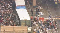 Hurricane Katrina Relief Freeway Overpass - stock footage