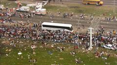 Hurricane Katrina Medical Relief Stock Footage