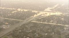 Stock Video Footage of Hurricane Katrina Collapsed Freeway