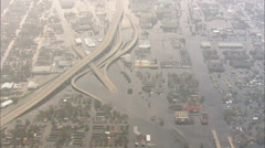 Hurricane Katrina Flooding New Orleans Stock Footage
