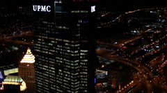 Pittsburgh Aerials UPMC Stock Footage