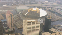 Superdome Buildings Hurricane Katrina Stock Footage