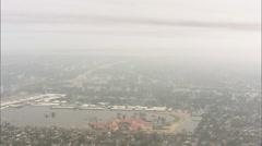 Flooded Buildings Hurricane Katrina Stock Footage