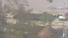 Flooded Neighborhood Hurricane Katrina Stock Footage