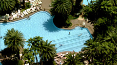 The Mirage Las Vegas Pools Stock Footage