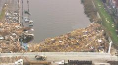 Repair Aftermath Hurricane Katrina Stock Footage
