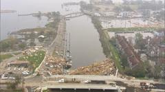 Repair Aftermath Hurricane Katrina - stock footage