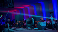 Music festival dj dance event Stock Footage