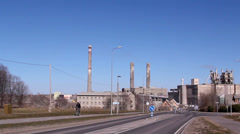 A view of a cement factory outside Stock Footage