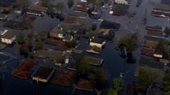 Homes Flooding Hurricane Katrina Stock Footage