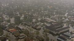 New Orleans Flooded Freeway Stock Footage