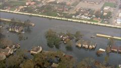 Broken Levee Flooding New Orleans - stock footage
