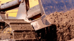 The caterpillar tractor getting some sand Stock Footage
