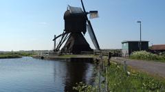 A working Dutch windmill Stock Footage