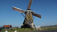 Stock Video Footage of A working Dutch windmill and a water wheel
