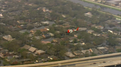 Hurricane Katrina Town Destruction Stock Footage