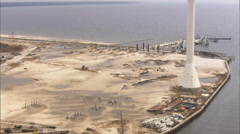 Shoreline Industrial Site New Orleans Stock Footage