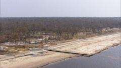 Beach Houses Destruction Hurricane Katrina Stock Footage