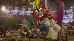 Fallas festival valencia carnival spain Stock Footage