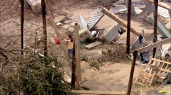 Destroyed Homes Hurricane Katrina Stock Footage