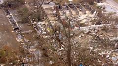 Destroyed Homes Hurricane Katrina - stock footage