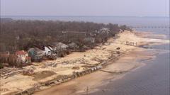 Beach Shoreline Destruction Hurricane Katrina Stock Footage