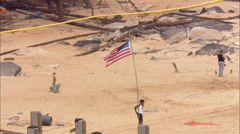 Beach Shoreline Destruction Hurricane Katrina - stock footage