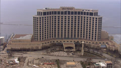 City Overhead Destruction Hurricane Katrina - stock footage