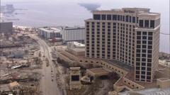 City Overhead Destruction Hurricane Katrina Stock Footage
