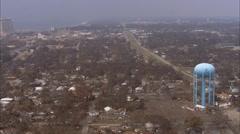 Shoreline City Destruction Hurricane Katrina - stock footage