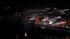 Pittsburgh Aerials Ppg Cu Highmark Heinz Field Stock Footage