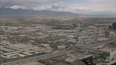 Cloudy Las Vegas Strip Stock Footage
