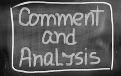 Comment and analysis concept Stock Illustration